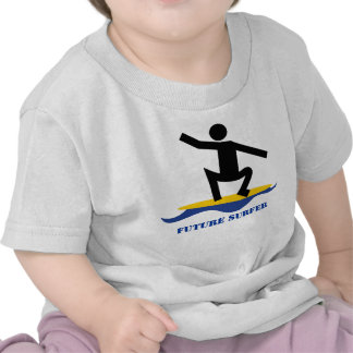 Future surfer, surfer on a surfboard custom tshirts