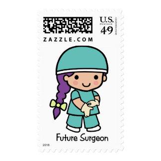 Future Surgeon - Girl Stamps