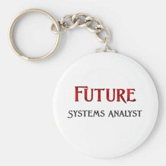 Future Systems Analyst Basic Round Button Keychain