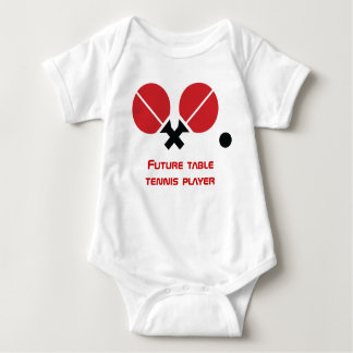 Future table tennis ping-pong player rackets, ball baby bodysuit