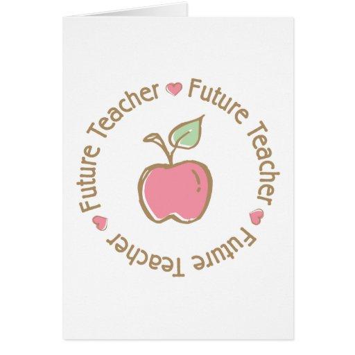 Future Teacher Apple Greeting Card