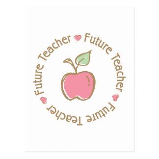 Future Teacher Apple Postcard