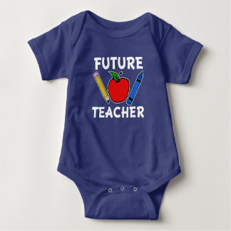 Future Teacher funny baby shirt
