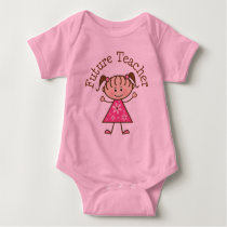 Future Teacher Stick Figure Baby Bodysuit