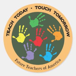 Future Teachers of America Classic Round Sticker