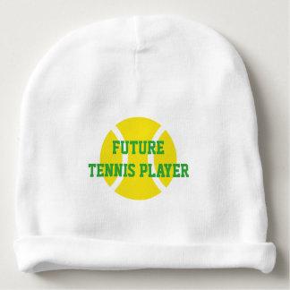FUTURE TENNIS PLAYER beanie hat for newborn baby