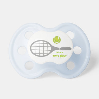 Future tennis player, tennis racket and ball BooginHead pacifier