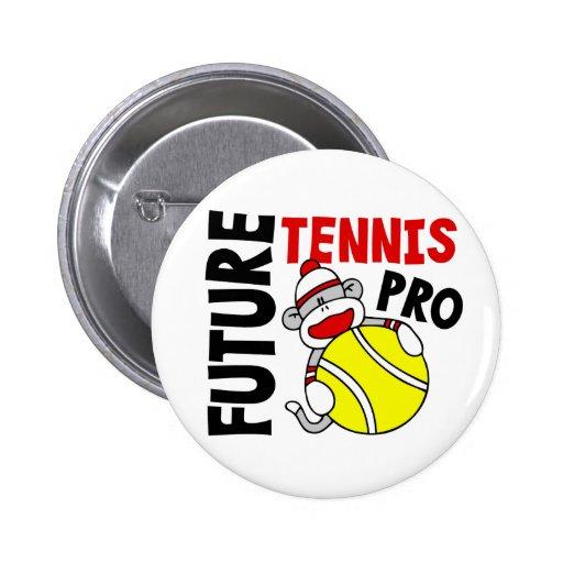 Future Tennis Pro Sock Monkey 2 Inch Round Button