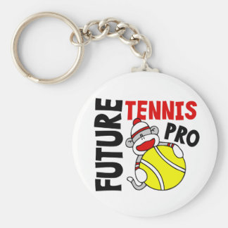 Future Tennis Pro Sock Monkey Keychain