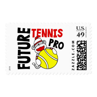 Future Tennis Pro Sock Monkey Postage Stamps