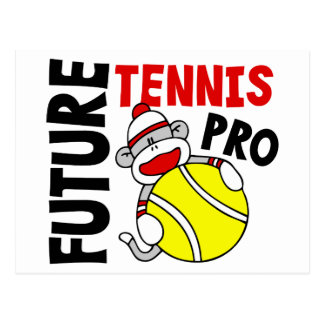 Future Tennis Pro Sock Monkey Postcard