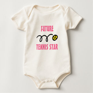 Future tennis star baby outfit rompers