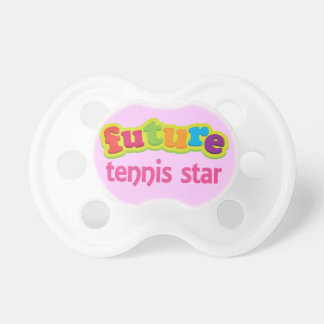 Future Tennis star Cute Acting Baby Shower Gift BooginHead Pacifier