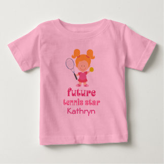 Future Tennis Star Girls Personalized T-shirt