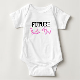Future Theater Nerd Pink Baby Bodysuit