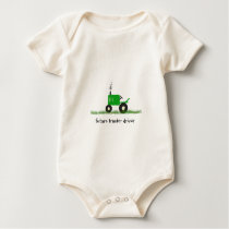 """Future Tractor Driver"" Baby Green Tractor Baby Bodysuit"