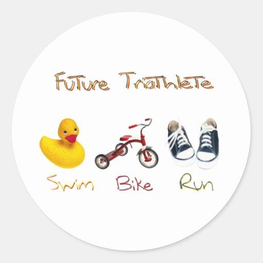 Future Triathlete Classic Round Sticker