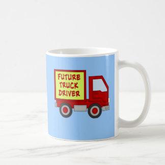 Future Truck Driver Kids Tshirt Classic White Coffee Mug