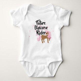 Future Unicorn Rider Baby Baby Bodysuit