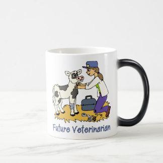 Future Vet - Girl with Cow 11 Oz Magic Heat Color-Changing Coffee Mug