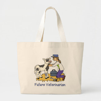 Future Vet - Girl with Cow Canvas Bags