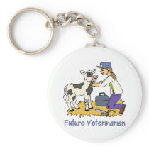 Future Vet - Girl with Cow Keychain