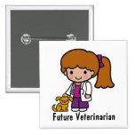 Future Veterinarian 2 Inch Square Button