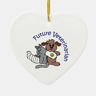 FUTURE VETERINARIAN CERAMIC ORNAMENT