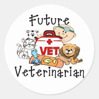 Future Veterinarian Classic Round Sticker