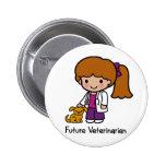 Future Veterinarian - Girl 2 Inch Round Button