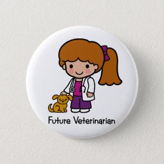 Future Veterinarian - Girl Button