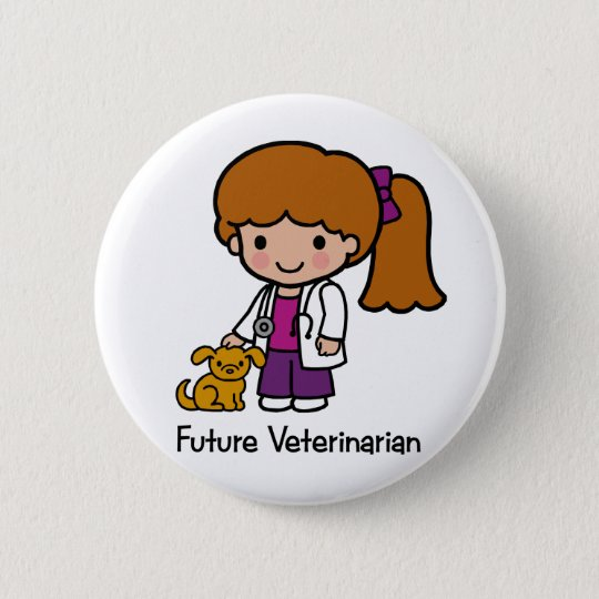 Future Veterinarian - Girl Button