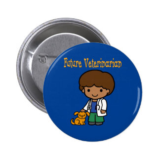 Future Veterinarian When I Grow Up Button