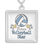 Future Volleyball Star Sterling Silver Necklace