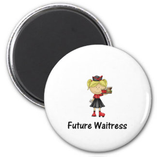 future waitress 2 inch round magnet