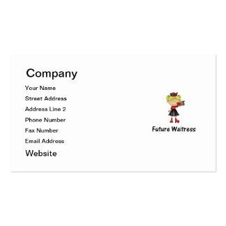 future waitress business card templates