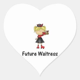 future waitress heart sticker
