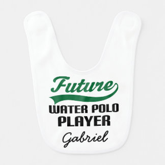 Future Water Polo Player Personalized Baby Bib