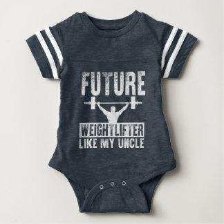 Future Weightlifter Like My Uncle Baby Bodysuit