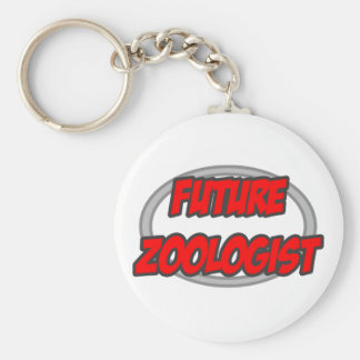 Future Zoologist Basic Round Button Keychain