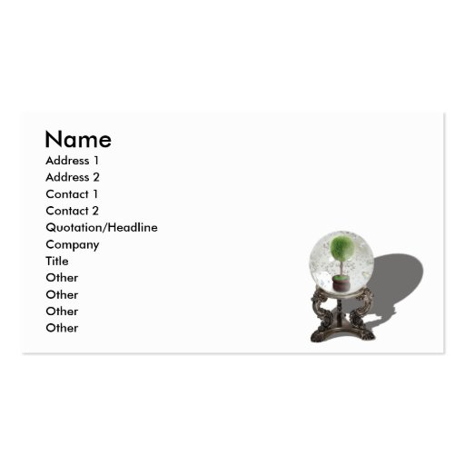 FutureOfEcologyCard, Name, Address 1, Address 2... Double-Sided Standard Business Cards (Pack Of 100)