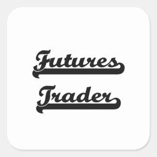 Futures Trader Classic Job Design Square Sticker