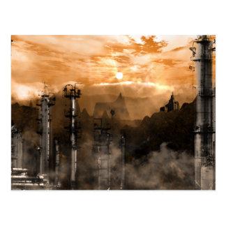 Futurescape Sci-Fi Gothic Landscape Postcard