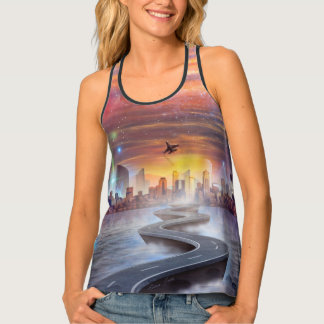 FutureVision Women's All-Over Print Racerback Tank