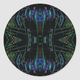 Futurism Futuristic Abstract Art Thing Classic Round Sticker