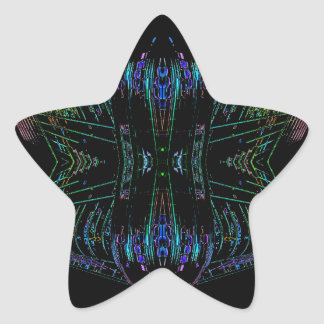 Futurism Futuristic Abstract Art Thing Star Stickers