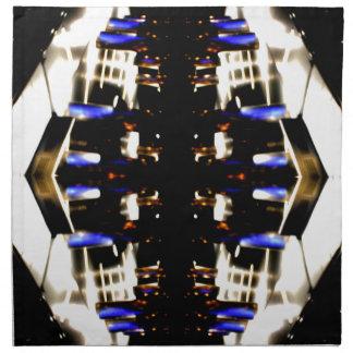 Futurismo ligero púrpura del surco de las señales  servilletas imprimidas