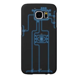 Futurist Blue Player Highlight Samsung Galaxy S6 Case