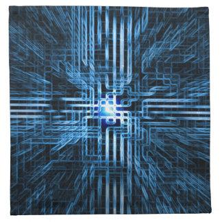Futurista, linear, circuito, azules de la rejilla… servilletas