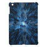 Futurista, linear, circuito, rejilla, movimiento d iPad mini carcasas